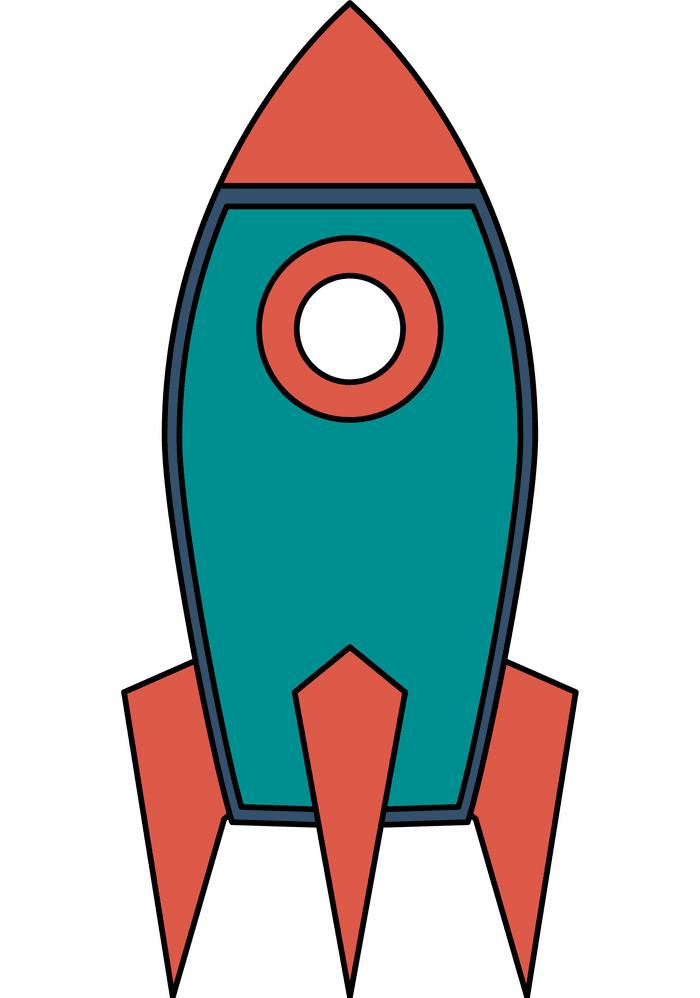 Rocket clipart free 3