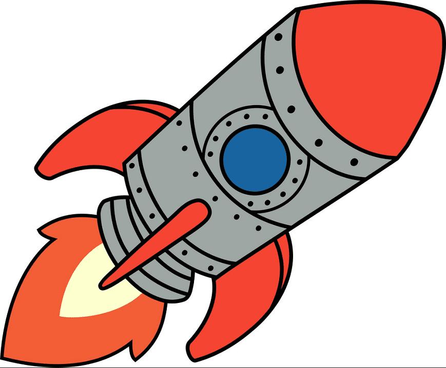 Rocket clipart free 4