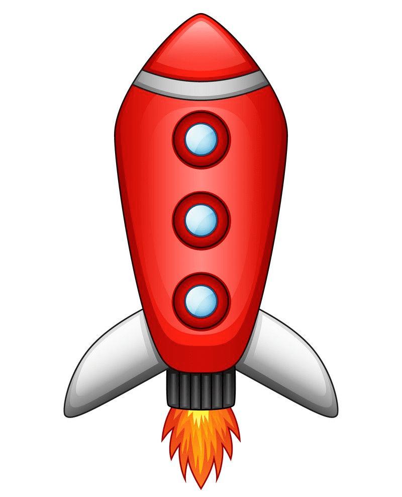 Rocket clipart free 6