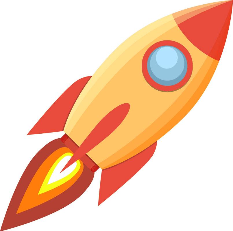 Rocket clipart free 8