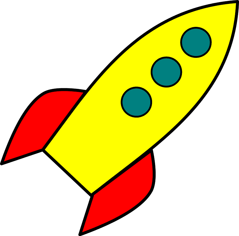 Rocket clipart transparent 10