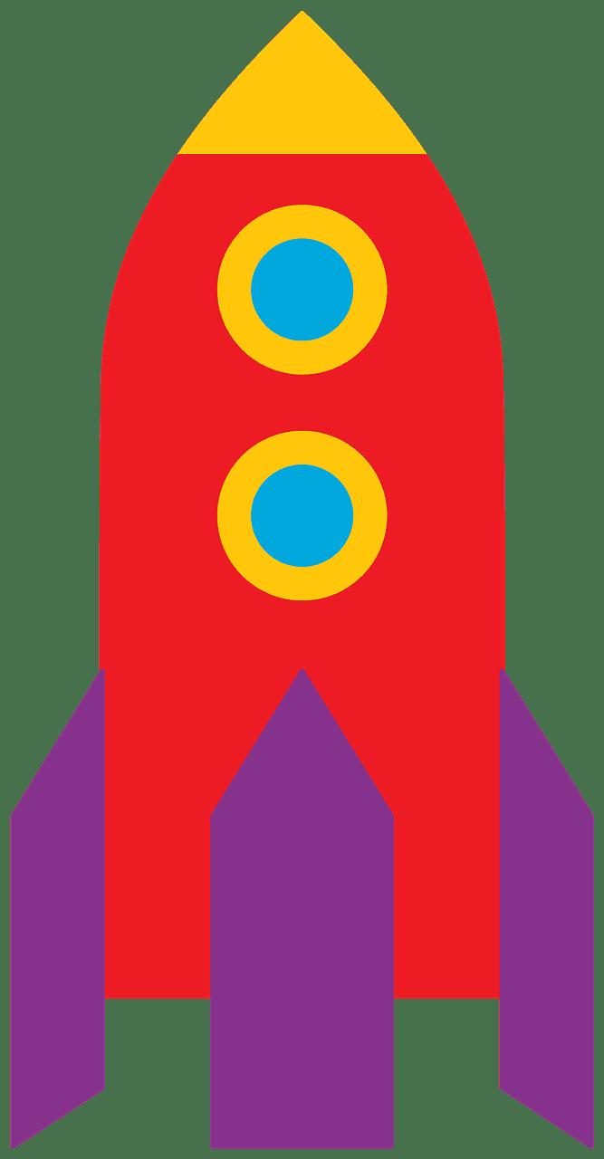 Rocket clipart transparent 6