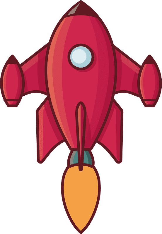 Rocket clipart transparent 7