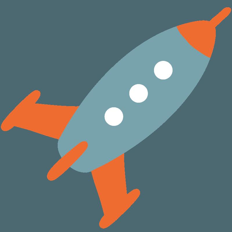 Rocket clipart transparent background 14