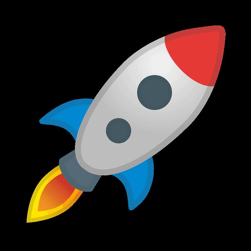 Rocket clipart transparent background 15