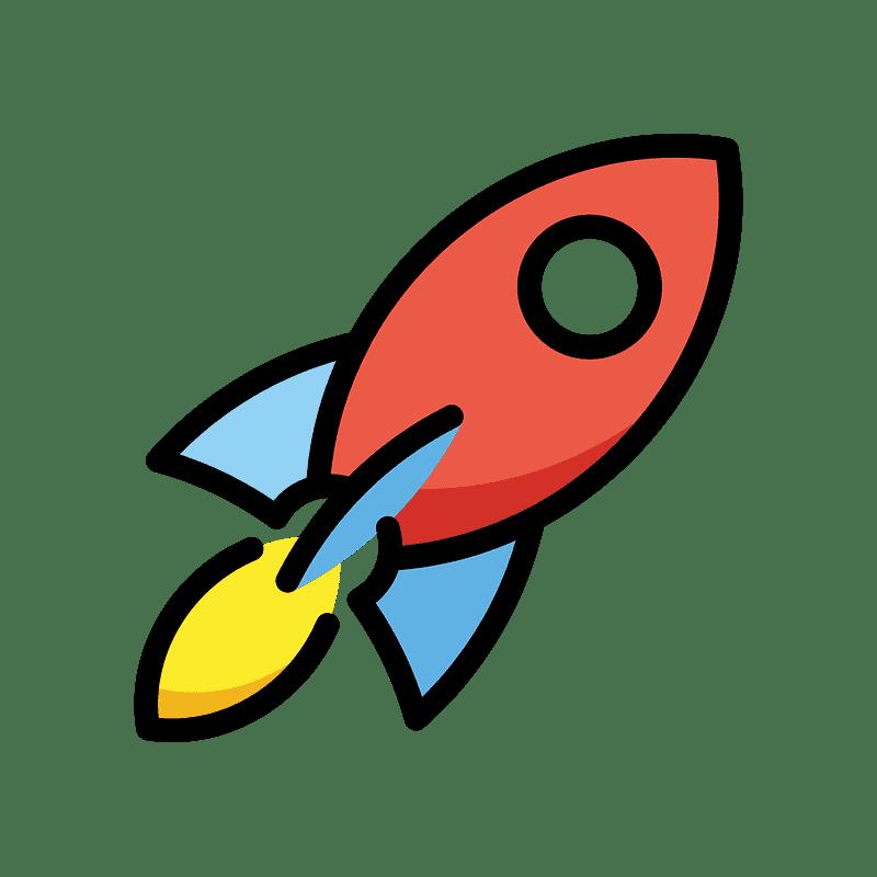 Rocket clipart transparent background 5