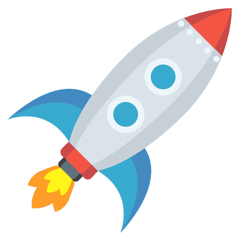 Rocket clipart transparent background 7
