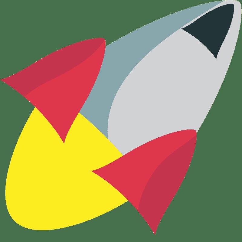 Rocket clipart transparent background 8