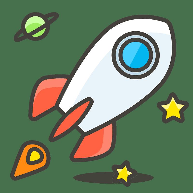 Rocket clipart transparent background 9