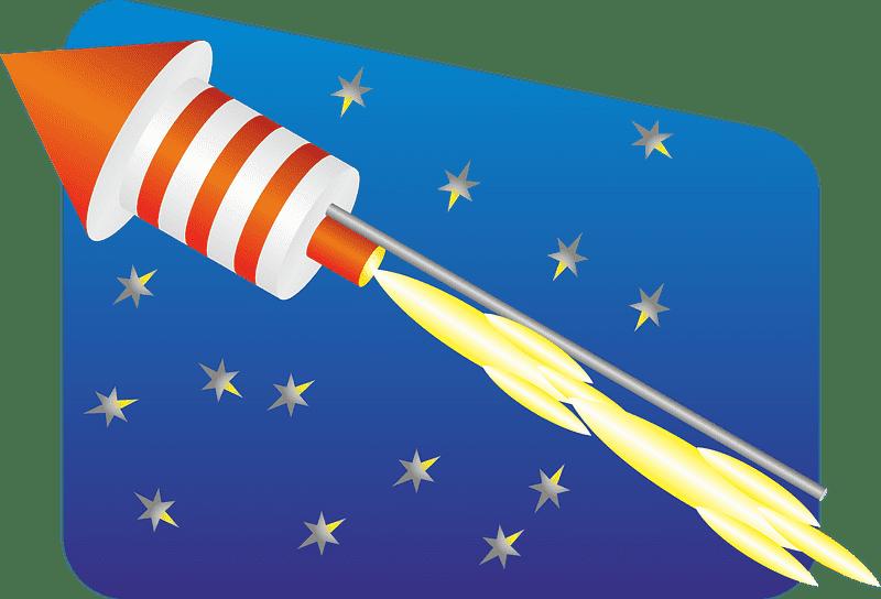 Rocket clipart transparent background