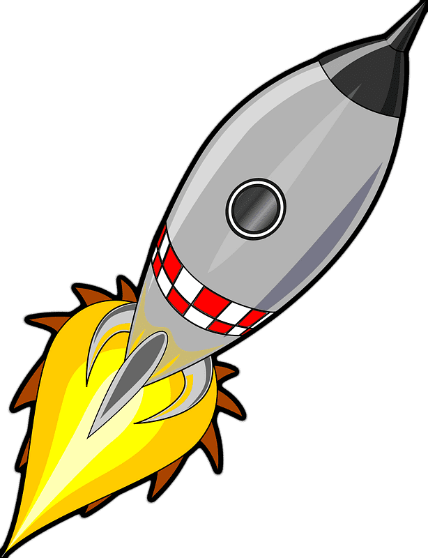 Rocket clipart transparent png image
