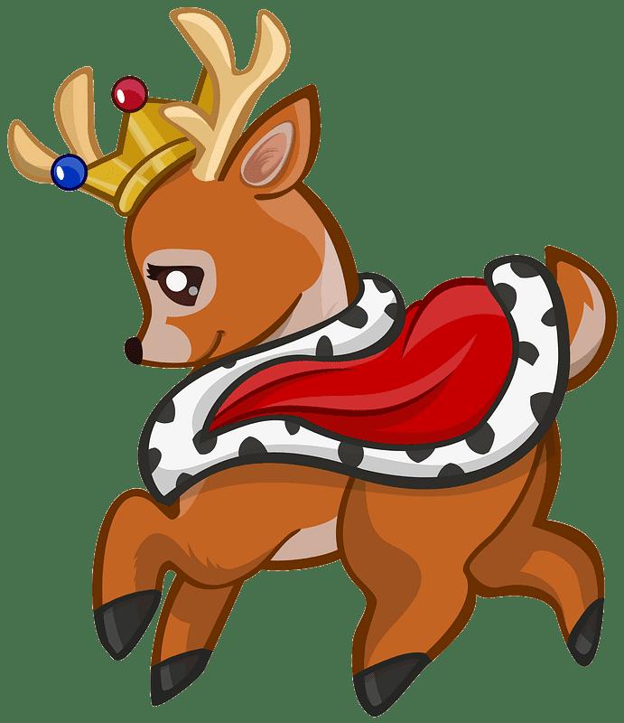 Royal Deer clipart transparent background