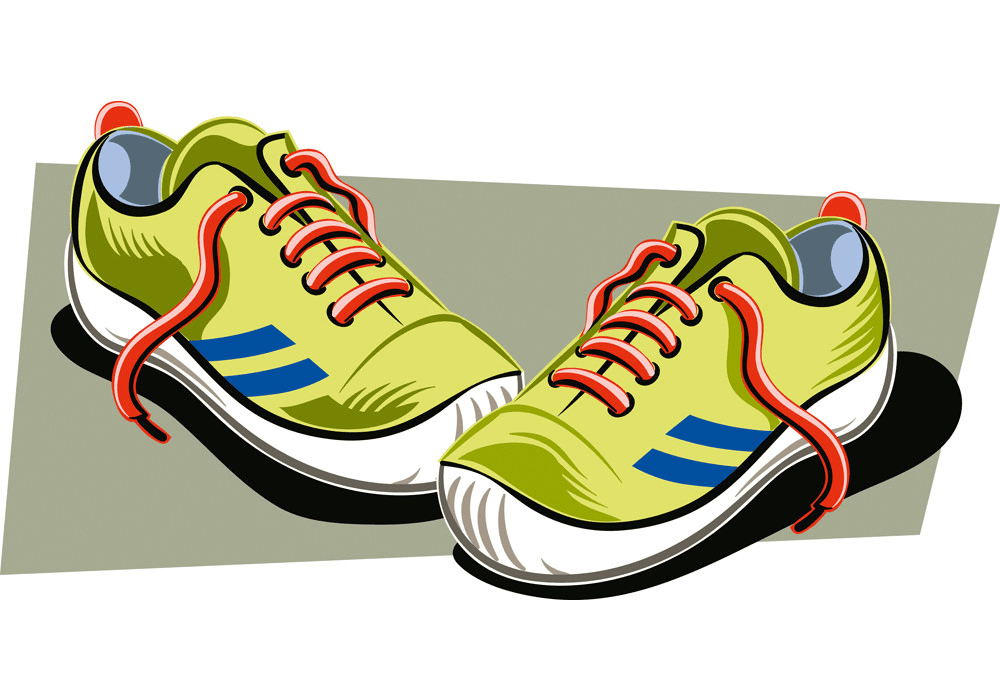 Running Shoes clipart free image