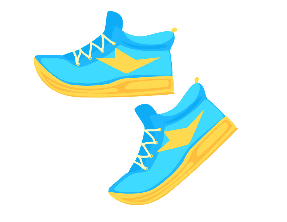 Running Shoes clipart png free
