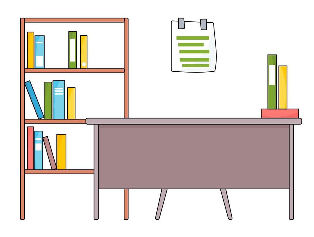 School Desk clipart free image