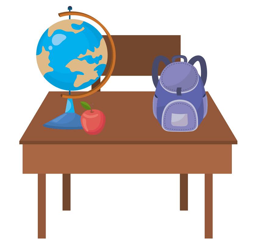 School Desk clipart images
