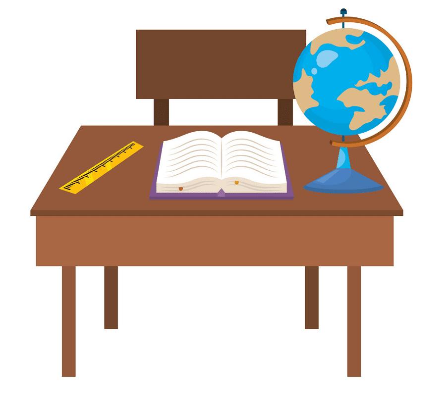 School Desk clipart png free