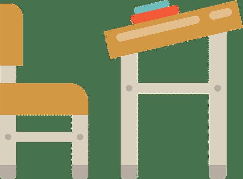School Desk clipart transparent 3