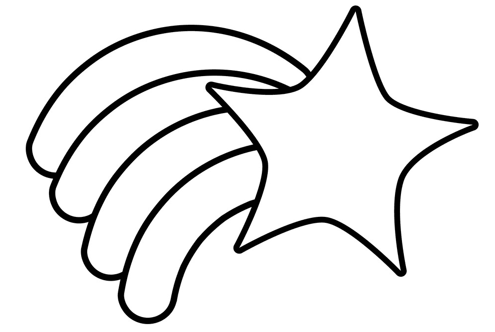 Shooting Star Clipart Black and White images