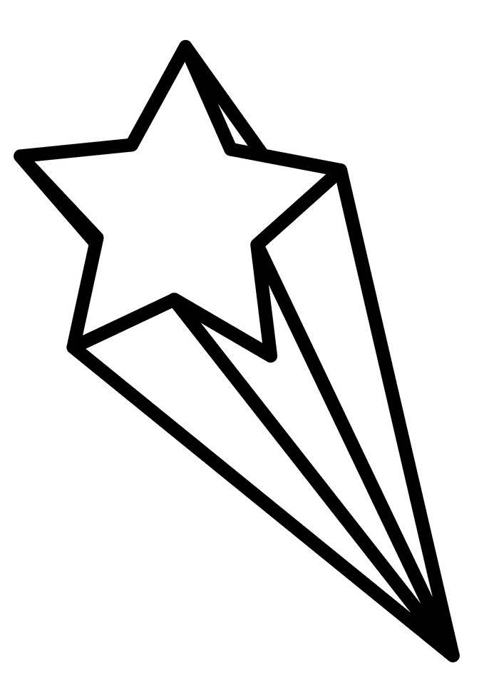 Shooting Star Clipart Black and White png images