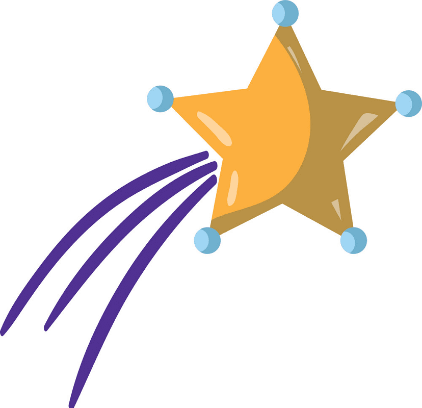 Shooting Star clipart free 1