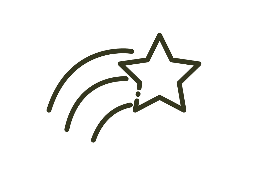 Shooting Star clipart free 3