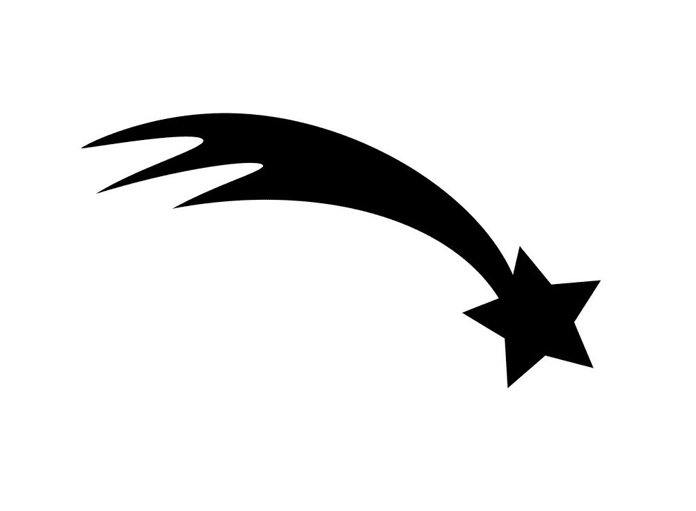 Shooting Star clipart free 5