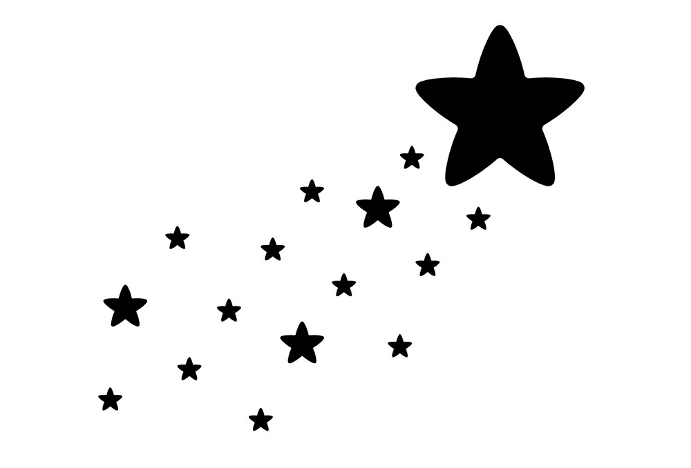 Shooting Star clipart free 6