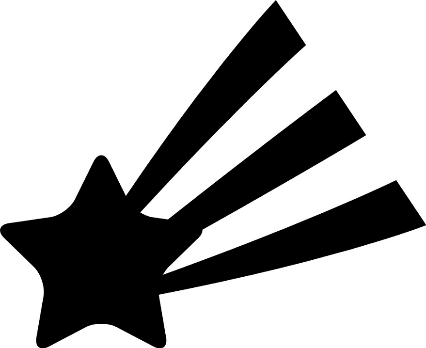 Shooting Star clipart free 7