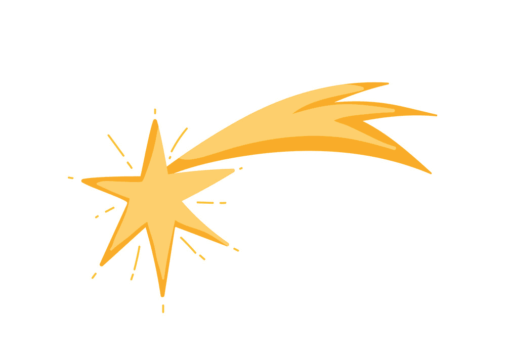 Shooting Star clipart png 1