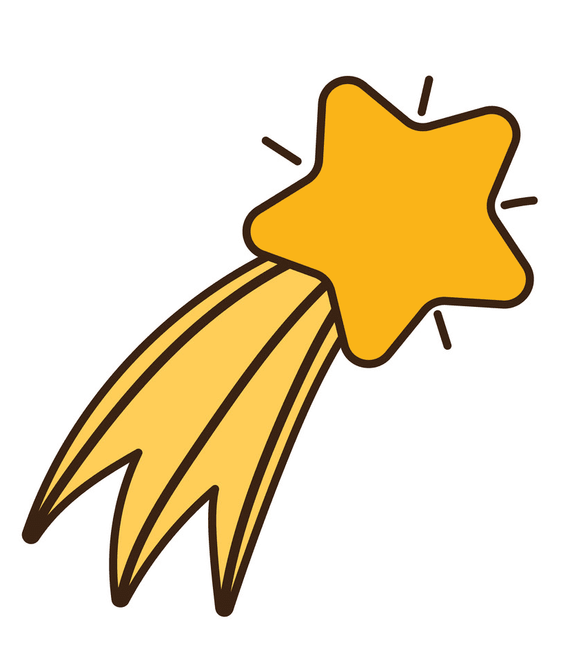 Shooting Star clipart png 3