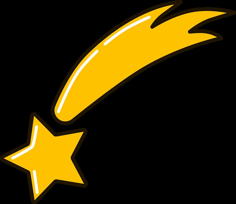 Shooting Star clipart transparent 1