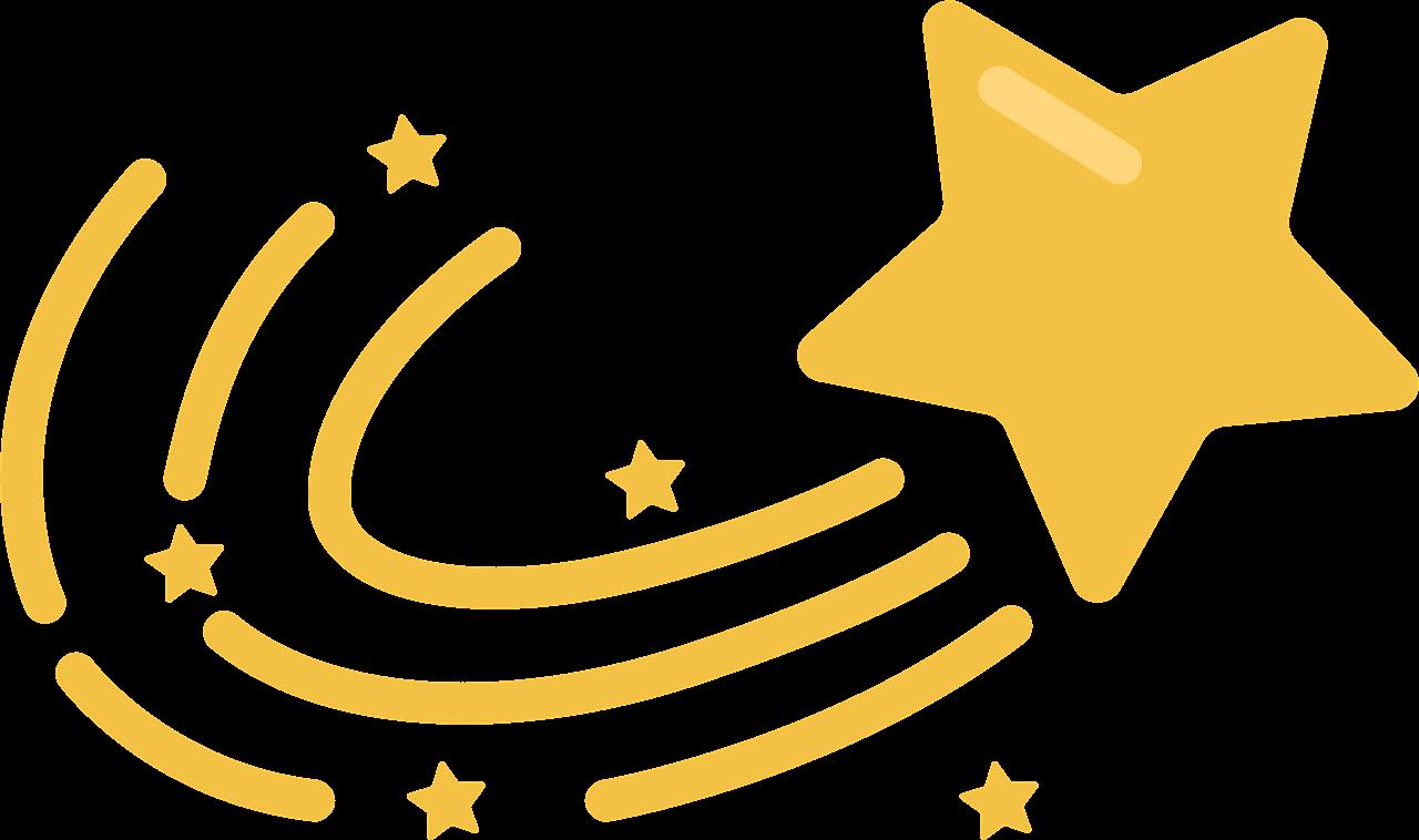 Shooting Star clipart transparent 2
