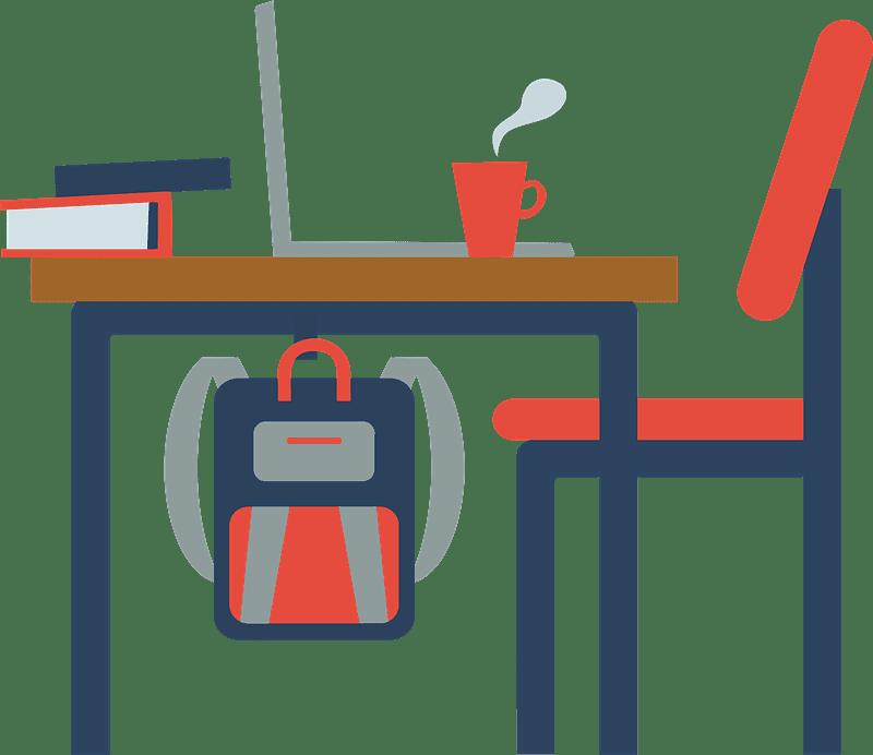 Student Desk clipart transparent 3