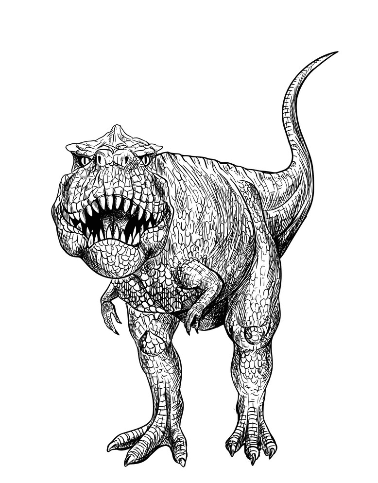 T-Rex Clipart Black and White free images