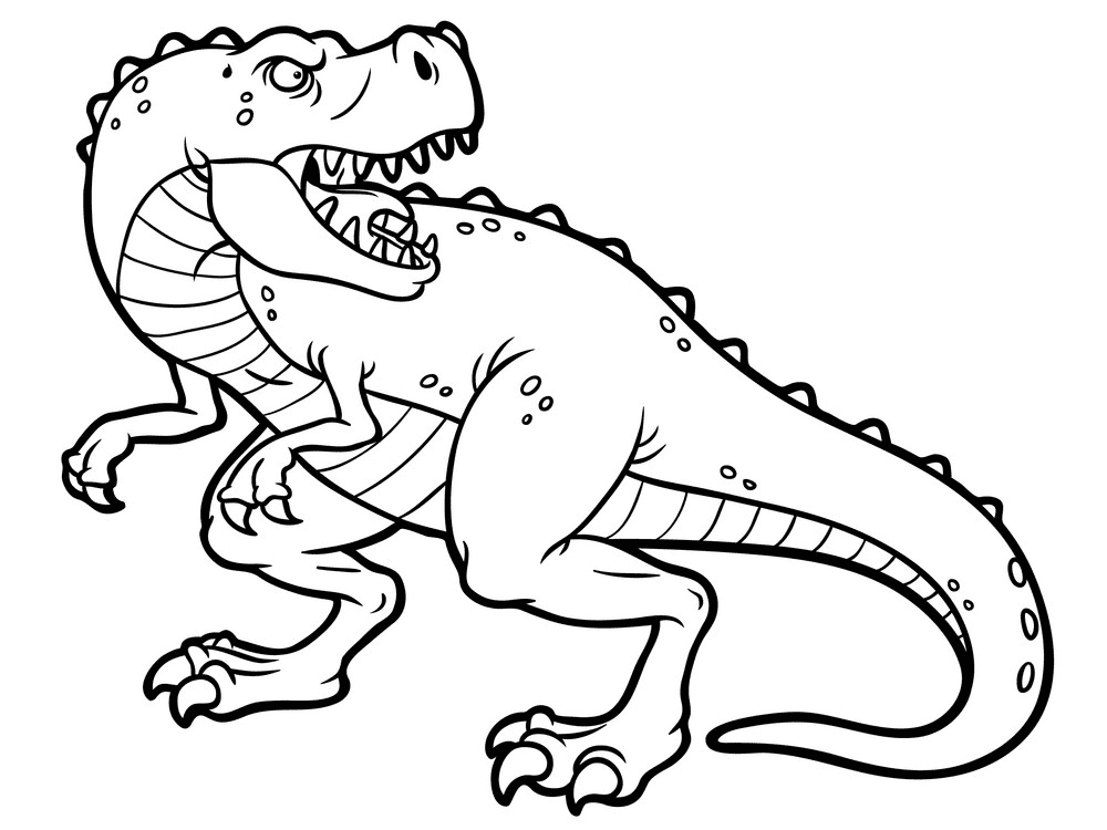 T-Rex Clipart Black and White free