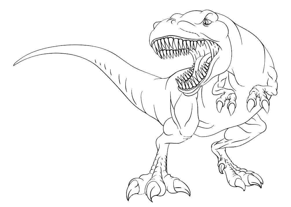 T-Rex Clipart Black and White image