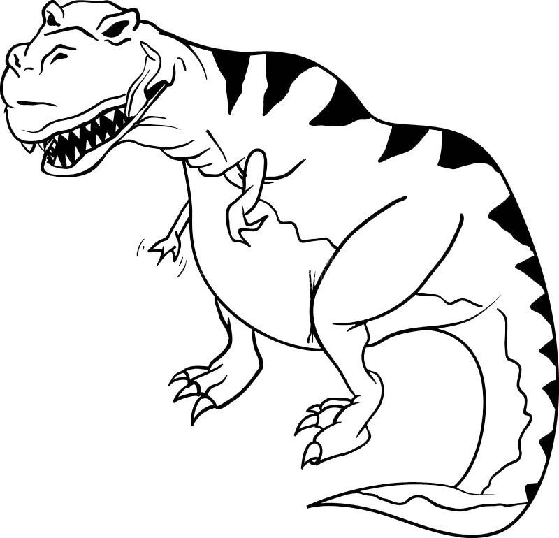 T-Rex Clipart Black and White images