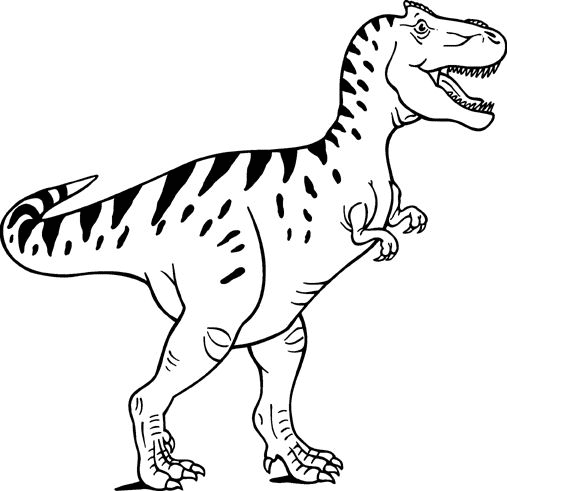 T-Rex Clipart Black and White png image