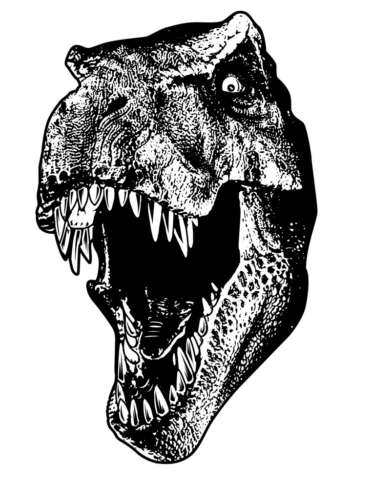 T-Rex Head clipart for free