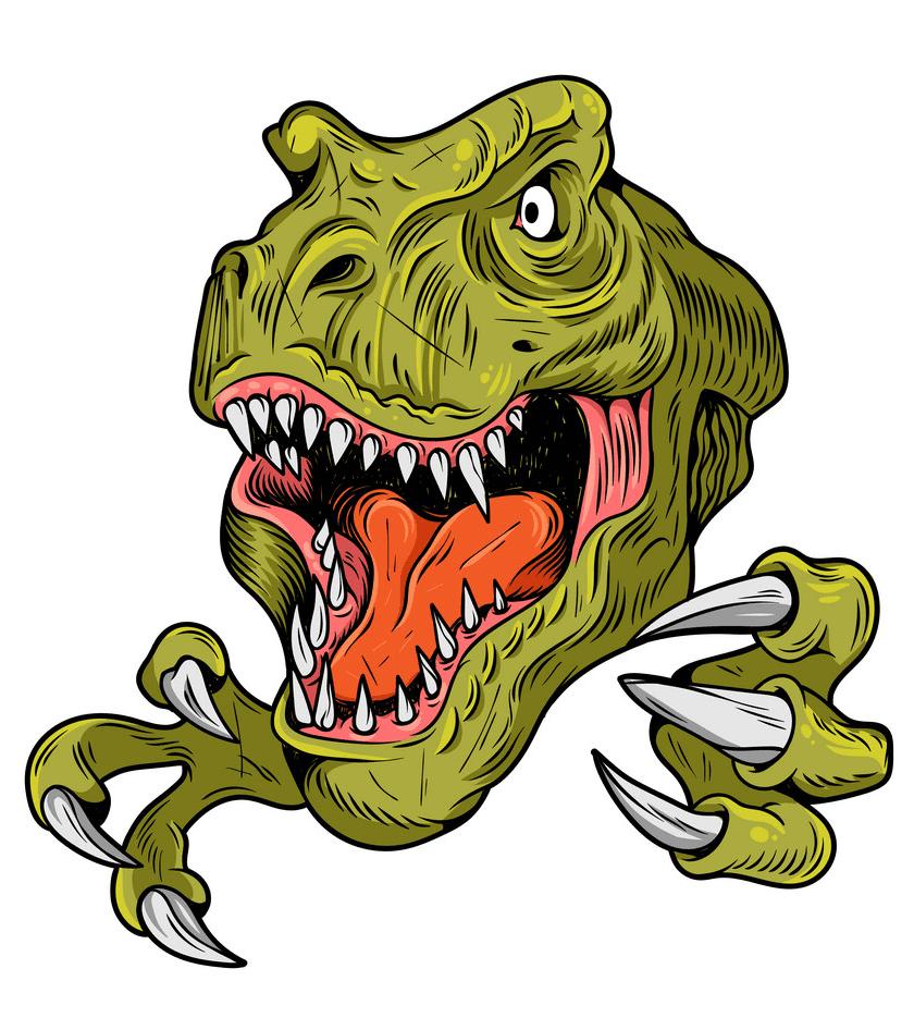 T-Rex Head clipart free