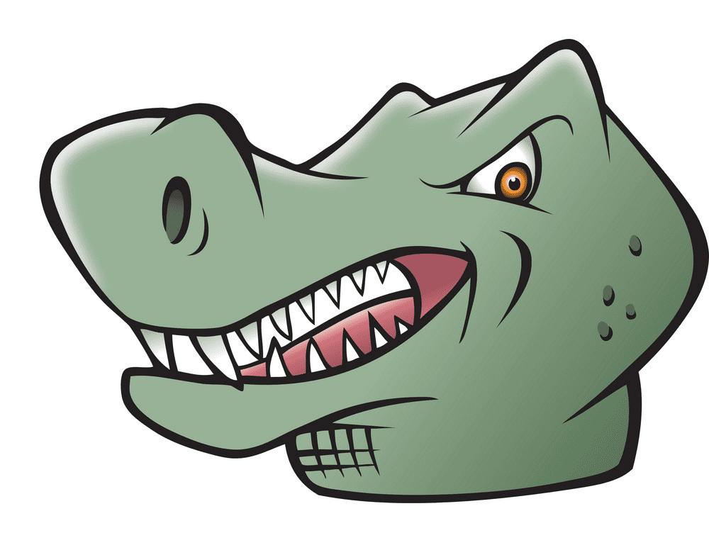 T-Rex Head clipart image