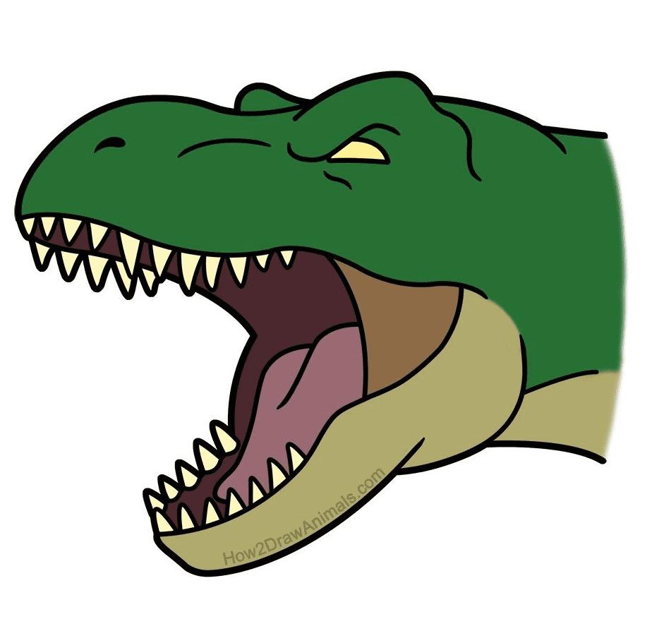 T-Rex Head clipart images