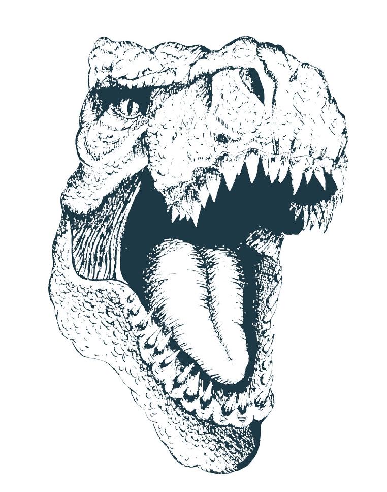 T-Rex Head clipart