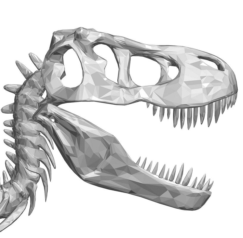 T-Rex Skull clipart for free