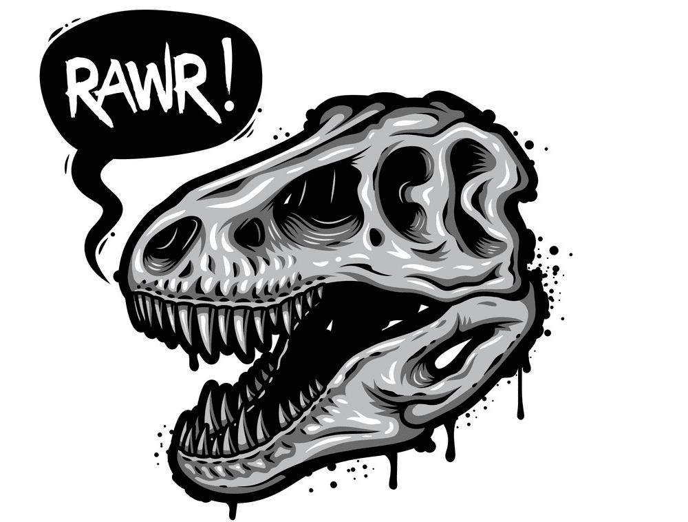T-Rex Skull clipart png