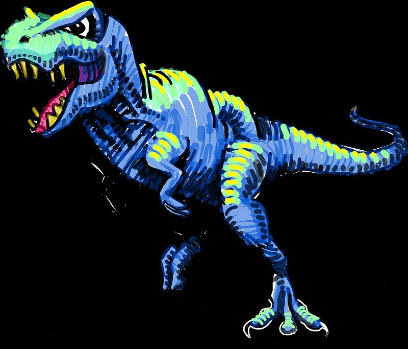 T-Rex clipart transparent background 6