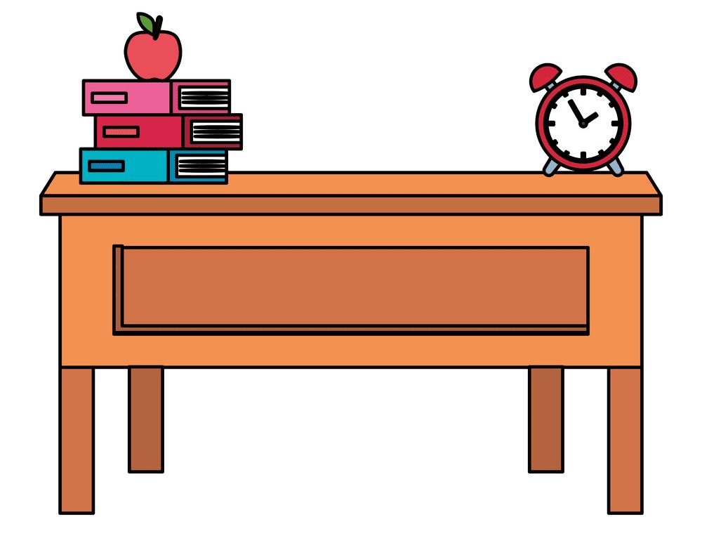 Teacher Desk clipart free image