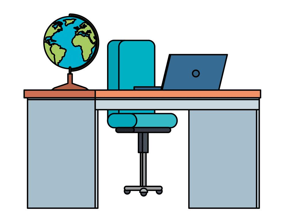 Teacher Desk clipart free images