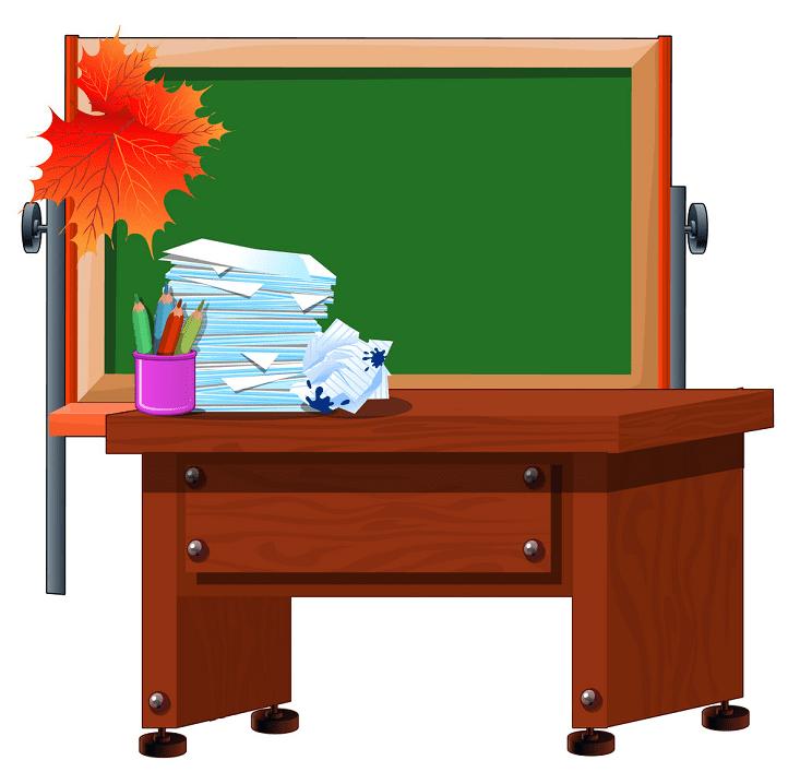 Teacher Desk clipart free